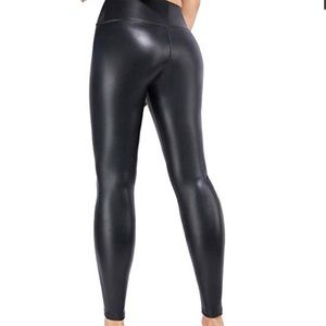 Pants - Black Faux Leather High Waisted Pant